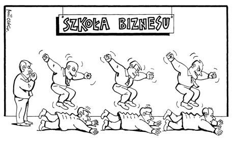 Rys_Andrzej_Mleczko_cios_szkołą biznesu