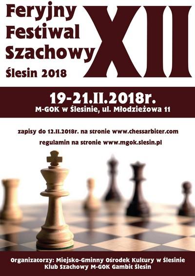 Feryjny Festiwal Szachowy Ślesin 2018